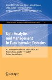 Data Analytics and Management in Data Intensive Domains (eBook, PDF)