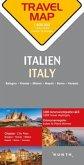 Travelmap Reisekarte Italien / Italy 1:800.000