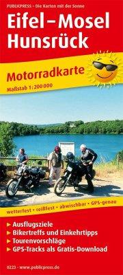 PUBLICPRESS Motorradkarte Eifel - Mosel - Hunsrück