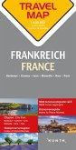 Travelmap Reisekarte Frankreich / France 1:800.000