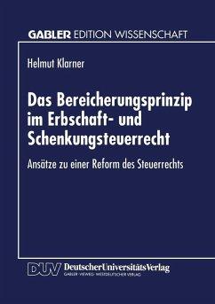 Das Bereicherungsprinzip im Erbschaft- und Schenkungsteuerrecht (eBook, PDF)