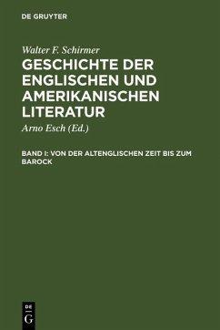 Von der altenglischen Zeit bis zum Barock (eBook, PDF) - Schirmer, Walter F.