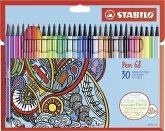 STABILO Filzstifte Pen 68 Premium 30er Set