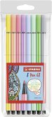 STABILO Filzstifte Pen 68 Pastell, 8er Set