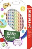 STABILO EASYcolors für Linkshänder 12er Etui mit Spitzer