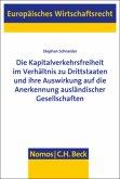Die Kapitalverkehrsfreiheit im Verhältnis zu Drittstaaten und ihre Auswirkung auf die Anerkennung ausländischer Gesellschaften