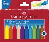 Faber-Castell Wachsmalstifte Dreikant, 12er Set