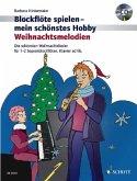 Weihnachtsmelodien, 1-2 Sopran-Blockflöten, Klavier ad lib., m. Audio-CD