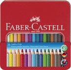 Faber-Castell Buntstift Jumbo Grip 16er Metalletui