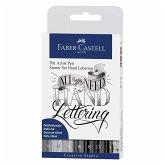 Faber-Castell Tuschestifte Pitt Artist Pens Lettering, 9er Set Starter