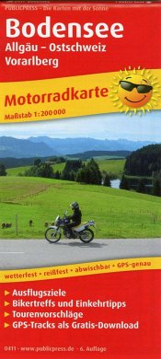 PublicPress Motorradkarte Bodensee, Allgäu - Ostschweiz - Vorarlberg