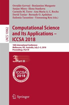 Computational Science and Its Applications - ICCSA 2018 (eBook, PDF)