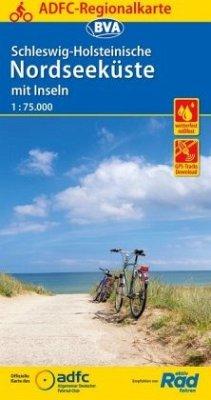 ADFC-Regionalkarte Schleswig-Holsteinische Nordseeküste mit Inseln 1:75.000