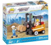 COBI 1668 - ACTION TOWN, Forklift, Gabelstabler, Bausatz, 90 Teile und 2 Figuren