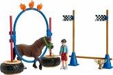 Schleich 42482 - Farm World, Pony Agility Rennen, Pferde Spielfigurenset
