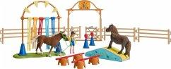 Schleich 42481 - Farm World, Pony Agility Training, Spielfigurenset, Pferde