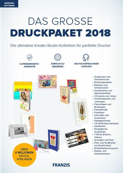 Das Grosse Druckpaket 2018 Software Portofrei Bei Bucher De
