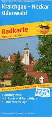 PublicPress Radkarte Kraichgau - Neckar - Odenwald