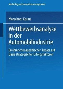 Wettbewerbsanalyse in der Automobilindustrie (eBook, PDF) - Marschner, Karina
