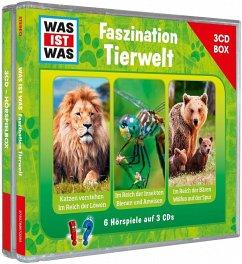 Was ist was Hörspielbox: Faszination Tierwelt, 3 Audio-CDs - Falk, Matthias; Haderer, Kurt; Baur, Manfred