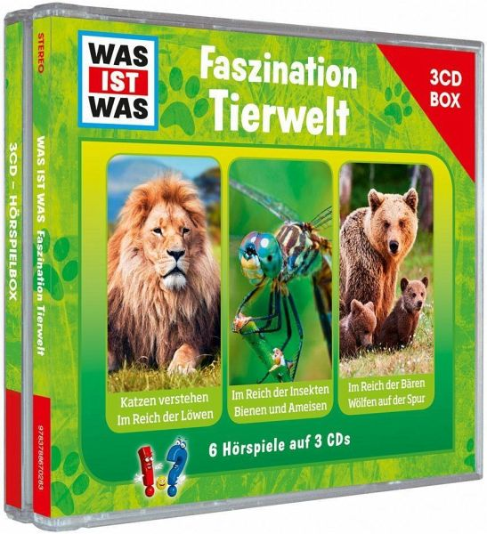 was ist was h rspielbox faszination tierwelt 3 audio cds. Black Bedroom Furniture Sets. Home Design Ideas