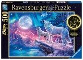 Wolf im Nordlicht (Puzzle)