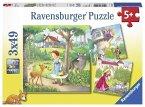 Rapunzel, Rotkäppchen & Froschkönig (Kinderpuzzle)