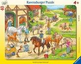 Auf dem Pferdehof (Rahmenpuzzle)