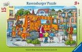 Unterwegs mit der Müllabfuhr (Rahmenpuzzle)
