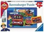 Ravensburger 07826 - Fireman Sam, Wasser marsch mit Sam, 2x24 Teile, Puzzle