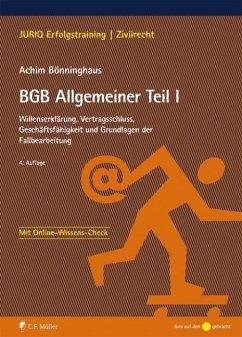 BGB Allgemeiner Teil I - Bönninghaus, Achim