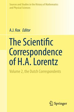 The Scientific Correspondence of H.A. Lorentz (eBook, PDF)