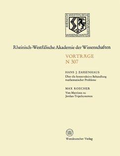 Über die konstruktive Behandlung mathematischer Probleme. Von Matrizen zu Jordan-Tripelsystemen (eBook, PDF) - Zassenhaus, Hans