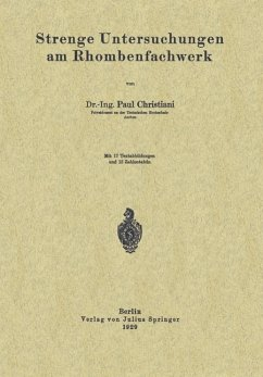 Strenge Untersuchungen am Rhombenfachwerk (eBook, PDF) - Christiani, Paul