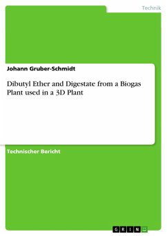 Dibutyl Ether and Digestate from a Biogas Plant used in a 3D Plant (eBook, PDF)
