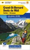 Kümmerly+Frey Karte Grand-St-Bernard - Dents du Midi, Verbiez, Ovronnaz Wanderkarte