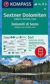 KOMPASS Wanderkarte Sextner Dolomiten, Dolomit di Sesto, Toblach, Dobbiaco, Innichen, San Candido, Lienz