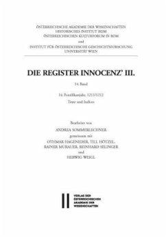 Die Register Innocenz´ III., 14. Band