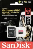 SanDisk microSDXC A2 170MB 64GB Extreme Pro SDSQXCY-064G-GN6MA