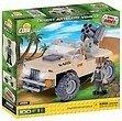 COBI Small Army 2199 - Desert Artilery Vehicle, Wüstenartilleriefahrzeug, Bausatz 100 Teile und 1 Figur