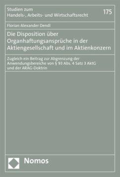 Die Disposition über Organhaftungsansprüche in ...