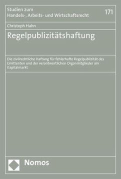 Regelpublizitätshaftung - Hahn, Christoph