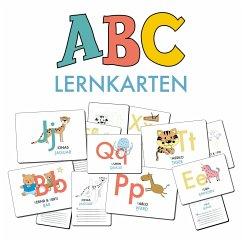 ABC-Lernkarten der Tiere, Bildkarten, Wortkarte...