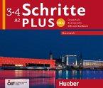 A2 - 4 Audio-CDs zum Kursbuch / Schritte plus Neu - Deutsch als Zweitsprache, Ausgabe Österreich .3+4