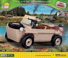 COBI 2188 - SMALL ARMY, VW TYP 166 Schwimmwagen, WWII, Bausatz, 120 Teile und 1 Figur