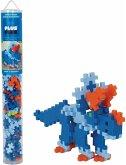 Plus-Plus® 9604094 - Triceratops, Tube, 100 Bausteine, Konstruktionsspielzeug, 4-farbig