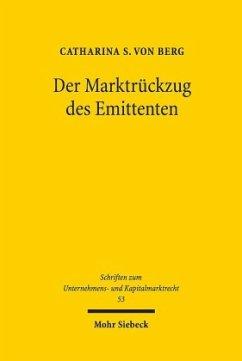 Der Marktrückzug des Emittenten - Berg, Catharina S. von