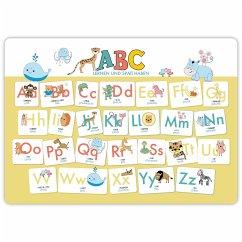 Hochwertiges ABC-Mini-Lernposter der Tiere (32,4 x 45,8 cm): Stabiler Karton, folienbeschichtet, abwischbar. - Wirth, Lisa