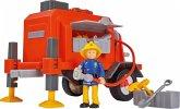 Simba 109251041 - Feuerwehrmann Sam, Sam Anhänger mit Figur