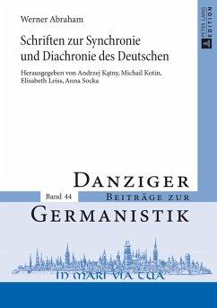 Schriften zur Synchronie und Diachronie des Deutschen (eBook, PDF) - Katny, Andrzej
